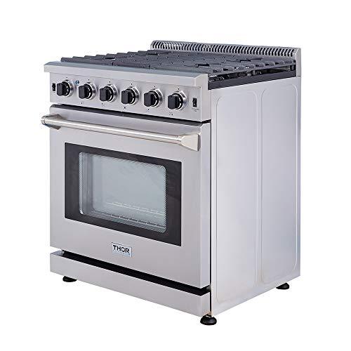 """Bosch Kitchen Appliances Qatar: Thor Kitchen 30"""" Stainless Steel Gas Range Oven With 5"""