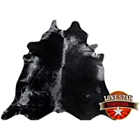 New Cowhide Rug Cowskin Cow Hide Brazilian Leather Dyed Midnight Black