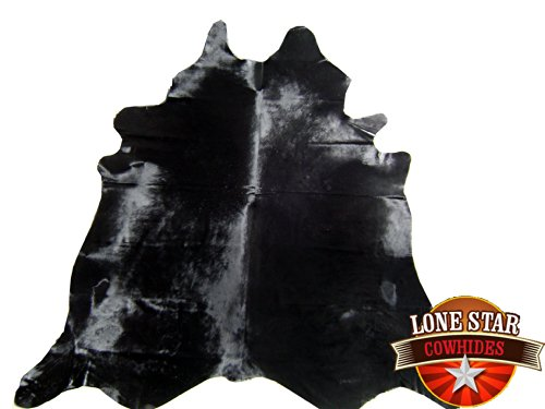 New Cowhide Rug Cowskin Cow Hide Brazilian Leather Dyed Midnight Black ()