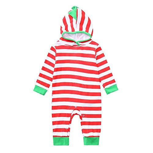 Littay Newborn Baby Boys Girls Dinosaur Hoodie Striped Romper Jumpsuit Outfits Clothes ()