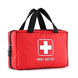 220 Piece First Aid Kit with Hospital Grade Medical Supplies, Great for Home, Outdoors, Office, Car, Travel, Camping, Hiking, Boating, Every Emergencies.