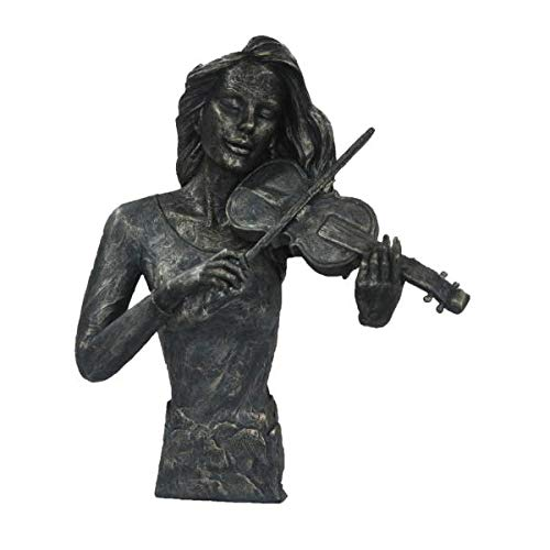Stunning Cold Cast Bronze Violin Player Home Office Decoration Artwork Art