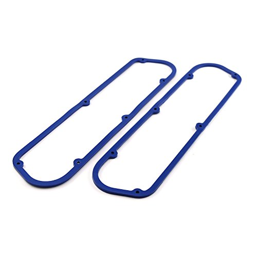 (fits Ford SB 289 302 351 Windsor Blue Rubber w/Steel Core Valve Cover Gasket Set)