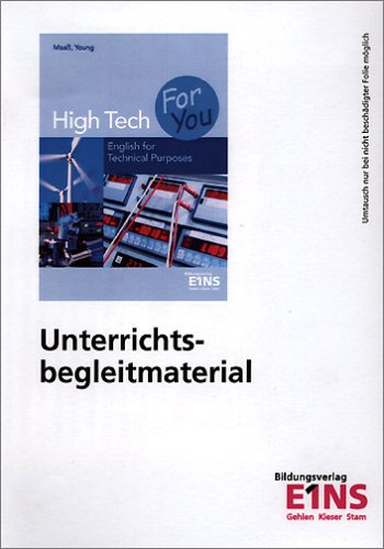 High Tech For You: Unterrichtsbegleitmaterial UBM CD-ROM inkl. Lösungen