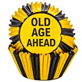 Old Age Cupcake Toppers and Baking Liners Over The Hill Birthday Food Picks Party Pack of 24