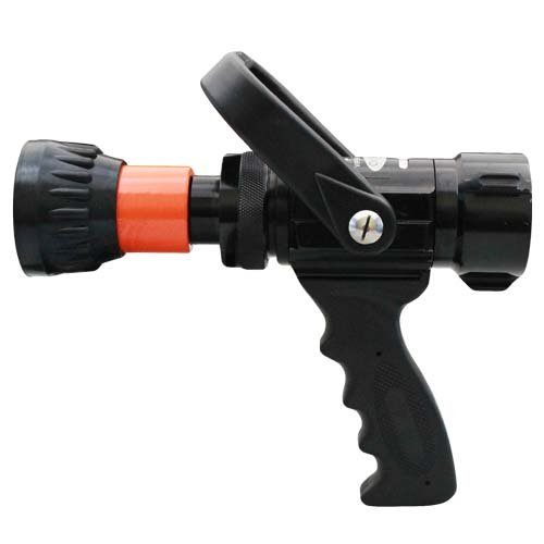 Alumium 1 1/2'' Orange NH Nozzle 60 Gallons Per Minute (GPM) with Durable Rubber Bumper by FireHoseDirect (Image #1)