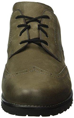 Ganter Frida, Weite F, Zapatos de Cordones Derby para Mujer Gris - Grau (asphalt 6100)