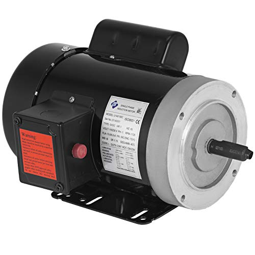 VEVOR 1 Hp Electric Motor 1725 RPM 11.2/5.6 A Single Phase Motor AC 115/230V Air Compressor Motor 56C Frame Suit for Agricultural Machinery and General Equipment ()