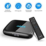 Android 7.1 TV Box, 2019 Version ABOX A4 Android TV Box with 2.4GHz