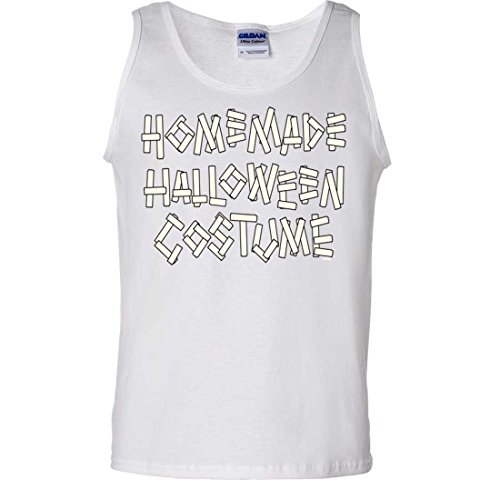 Homemade Halloween Costume Tank Top - White Small (Homemade Halloween Costumes For Men)