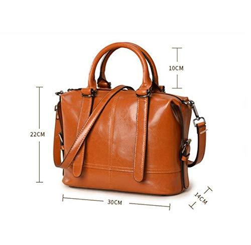 Retro Leather A Shoulder Handbag Oil Bag Fashion Hongge Leather Lady Messenger Bag Single Wax RcO81vv0wq