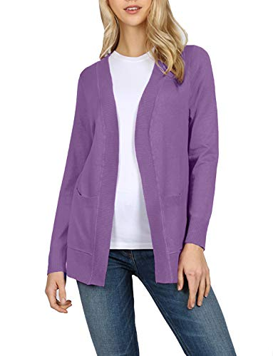 J. LOVNY Womens Classic Draped Knit Open Front Sweater Cardigans S-3XL