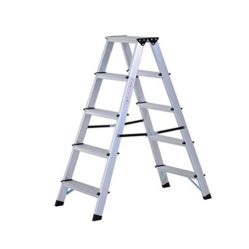 tama/ño peque/ño, para Ahorro de Espacio, tama/ño peque/ño Taburete Plegable de Aluminio con Escalera en Forma de F Generic