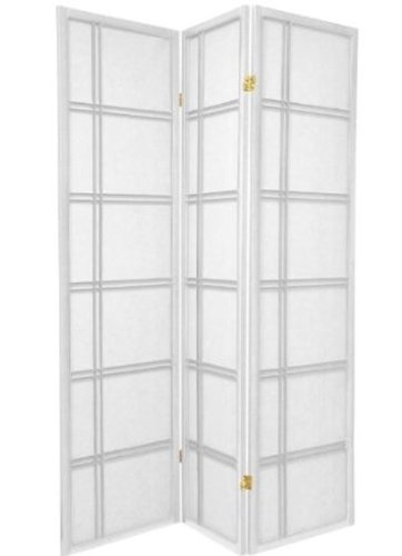 Legacy Decor 3 and 4 Panel Room Dividers in Black, Cherry, Natural, and White Color. -