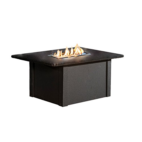 Outdoor Great Room Grandstone Crystal Fire Pit Table with Napa Valley Black Base and Absolute Black Granite Top by The Outdoor GreatRoom Company