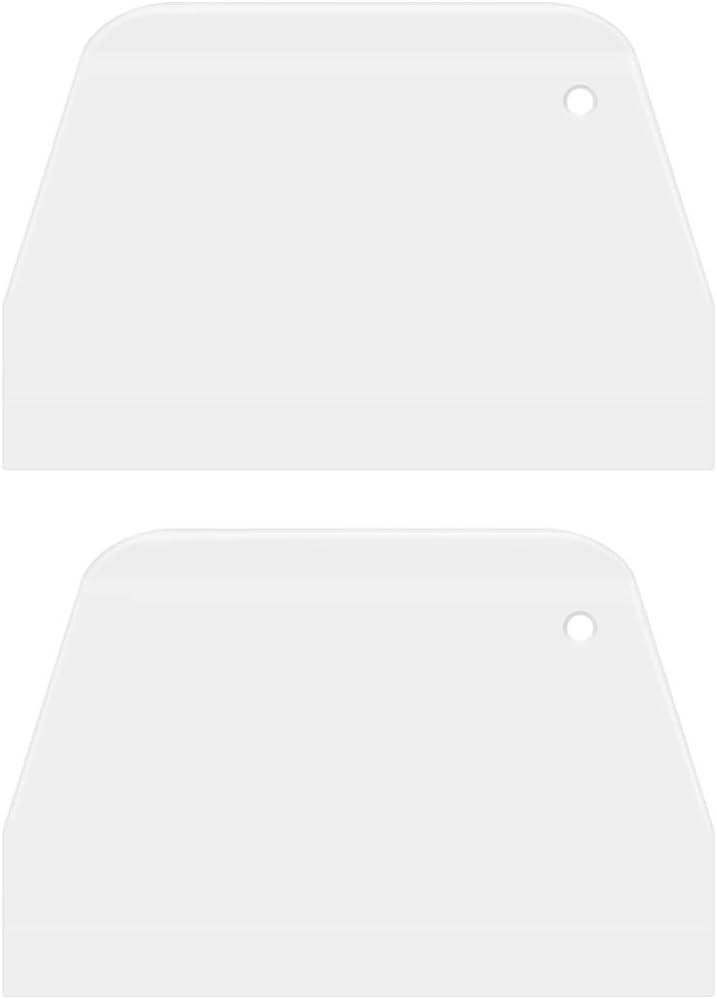 UPKOCH 2 piezas raspadores de tazón de masa de plástico multiusos raspador de cocina cortador herramienta de decoración de bordes más lisa para pastel de pizza