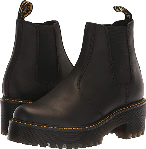 Dr. Martens Women's ROMETTY Fashion Boot, Black, 6 M UK (8 US) (Best Doc Marten Boots)