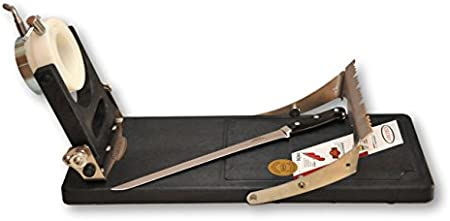 Jamonero giratorio Jamotec JP LUXE y cuchillo jamonero profesional de 30 cm