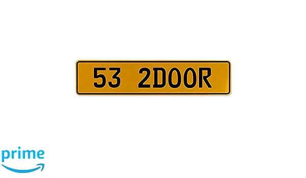 Vintage Parts 556881 Nasty 07 White Stamped Aluminum European License Plate