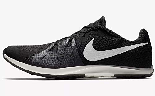 Nike Men's Zoom Rival Waffle Track and Field Shoes (Black/White,11)