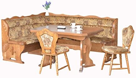 European Dining Furniture Set, Breakfast Nook Bench Made from Oak, 4 Piece Corner Dining Set, Enjoy The Best Breakfast Nook Table Set, Luxury Breakfast Nook Cushions. Bruck Breakfast Nook