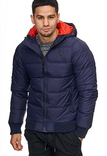 Azul Coat Gris Jacket XXL capucha Hombre 5061 De Negro Acolchada De Chaqueta Abrigo con Naranja Adrian Invierno L S XL Azul INDICODE Chaquetas M Mens AqnfTa7q