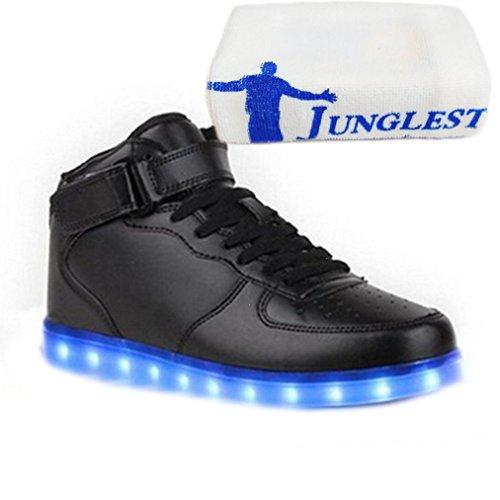 (Present:kleines Handtuch)JUNGLEST® 7 Farbe Wechseln USB aufladen LED-Licht Leuchtend Mode Sportschuhe Freizeitschuhe Outdoorschuhe Laufschuhe Schuhe Sneaker f Schwarz