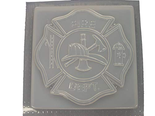 Square Fireman Firefighter Maltese Cross Concrete Plaster Stepping Stone Mold 1170