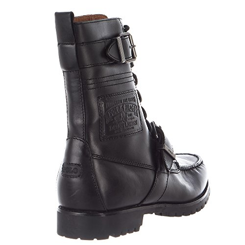 Polo Ralph Lauren Hommes Radbourne Lace-up Boot Noir Chrome