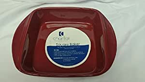 """Fancy Chantal Square Baker Red 8 3/4"""" X 8 1/2"""" X 2.2"""" New With Tags Free Usa Ship"""