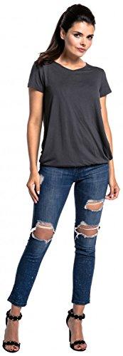 T L'Allattamento Top Doppio 436c Shirt Donna Zeta Strato Ville Grafite a prémaman wSRxTE