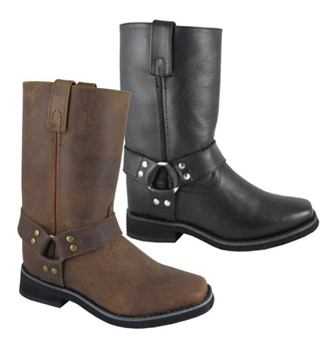 (Smoky Mountain Kids Western Harness Boots - Crazy Horse Brown Child 10)