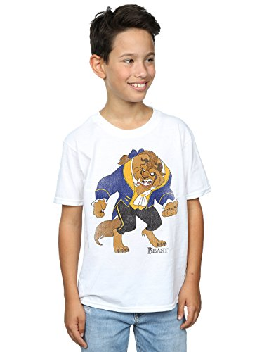 Disney Boys Beauty and The Beast Classic Beast T-Shirt 5-6 Years (Beauty White T-shirt)