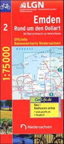 Topographische Sonderkarten Niedersachsen. Sonderblattschnitte auf der Grundlage der amtlichen topographischen Karten, meistens grösseres ... Bl.2, Emden, Rund um den Dollart