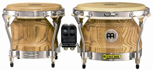 Meinl Percussion WB500ZFA-M Free Ride Series Woodcraft Bongos, Zebra Finished Ash - Matte by Meinl Percussion