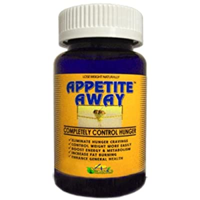 Appetite Away Hunger Suppressant Weight Loss Supplement Bottle (60 Capsules) by 4 Organics - All Natural Diet Pill - No Appetite - No Jitters - Satisfaction Guarantee