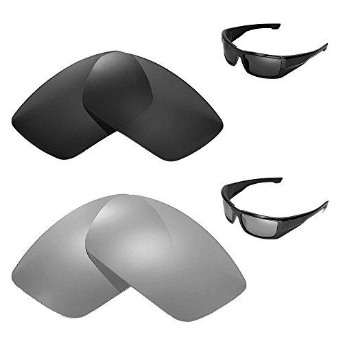 Walleva Polarized Titanium + Black Replacement Lenses for Spy Optic ()
