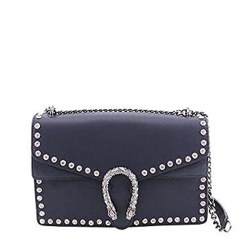 d480bdf3aa Ladies Faux Leather Diamante Studs Horseshoe Chain Strap Mini Shoulder Bag   Amazon.co.uk  Luggage