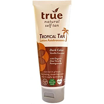 Amazon Com True Natural Tropical Tan Organic Self Tanning Lotion