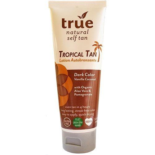 True Natural Tropical Tan, Organic Self Tanner, Dark, 3.4 Ounce