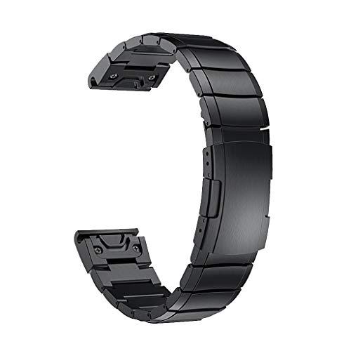 Thobu Stainless Steel Wristband Metal Strap for Garmin Fenix 5X/3/3 Hr Smart Bracelet Black,Watch Bands
