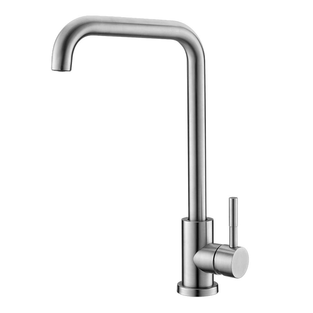 IBathUS Stainless steel kitchen faucet sink sink redating hot and cold faucet