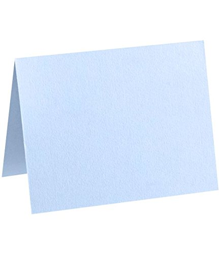 Correspondence Cards Casual (A6 Folded Card (4 5/8 x 6 1/4) - Baby Blue (500Qty) | Perfect for Personal Stationery, Invitation Suite Inserts, Casual Correspondence and much more! | EX5030-13-500)