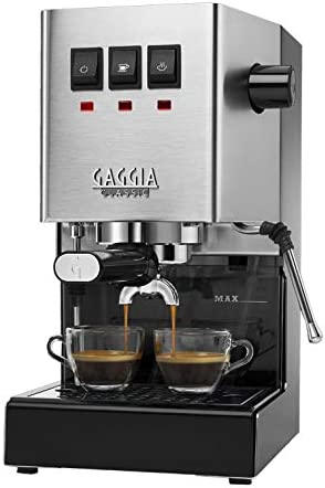 Gaggia RI9380 46 Classic Pro Espresso Machine, Solid, Brushed Stainless Steel