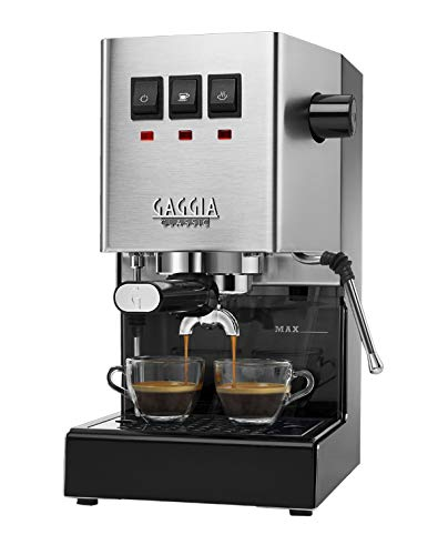 Gaggia RI9380/46 Classic Pro Espresso Machine, Solid, Brushed Stainless - Coffee Chrome Brushed Maker