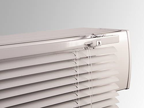 2 cajas de persiana sin agujeros para todo tipo de estor o rail - Caja de persiana especial con ranura - Color: blanco: Amazon.es: Hogar