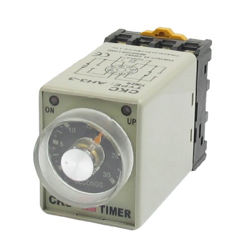 AH3-3 On/Up LED Indicator Power On Timing Relay DPDT 0-6m 6 Min 110V AC