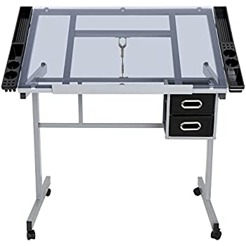 Amazon Com Jupiterforce Adjustable Drafting Table Drawing