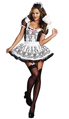 [PINSE Halloween Bridget Sexy French Maid Women Costumes] (G String Halloween Costumes)