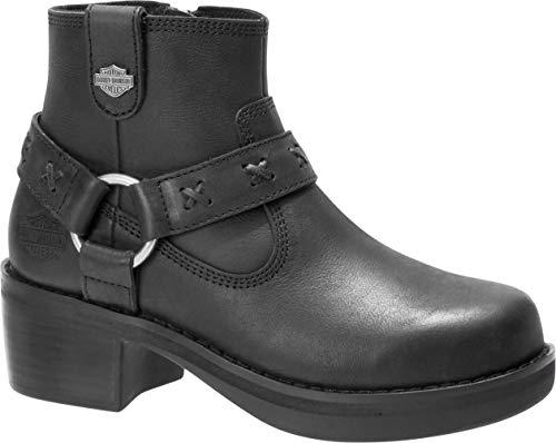 HARLEY-DAVIDSON Women's Adena Fashion Boot, Black, 07.5 M US